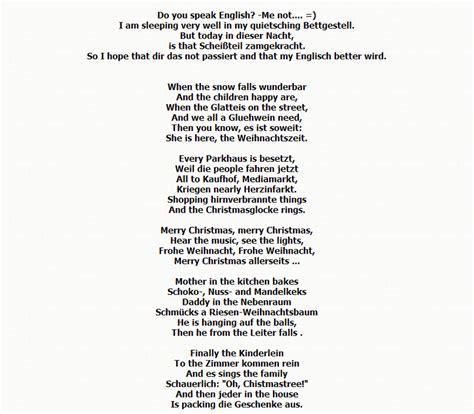 weihnachtsgedicht englisch deutsch