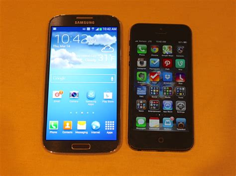 which phone is better samsung galaxy s4 vs iphone 5 business insider