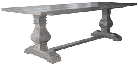 Grey Wash Pedestal Dining $990 #pedestal #dining #table #