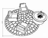 Drawing Patio Getdrawings Backyard sketch template