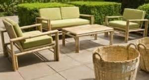 Salon De Jardin Bambou : salon de jardin en bambou couvert jardin ~ Teatrodelosmanantiales.com Idées de Décoration