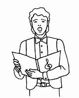 Singer Boy Coloring Pages Choral Printable Freeprintablecoloringpages Music Colouring Characters Boys sketch template