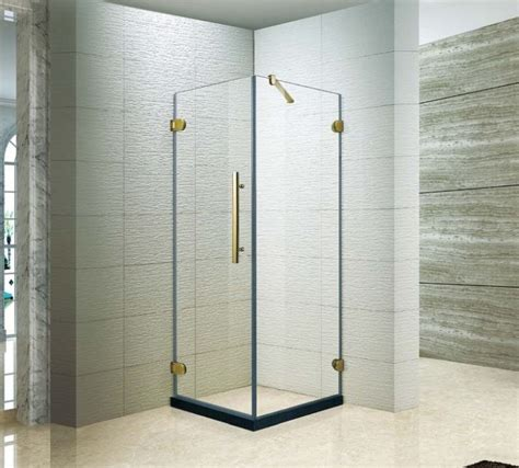 Tempered Glass Shower Doors Frameless by The Best Custom Frameless Square Hinged Tempered Glass