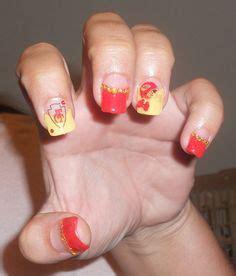 kansas city chiefs nail design nails   acrylic
