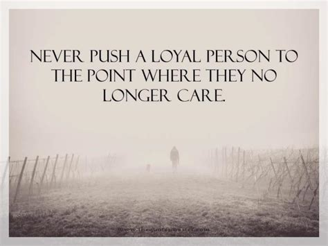 push  loyal person