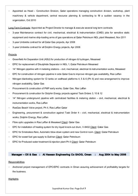 Building Operations Manager Resume by Suprabhat Kumar Das Resume