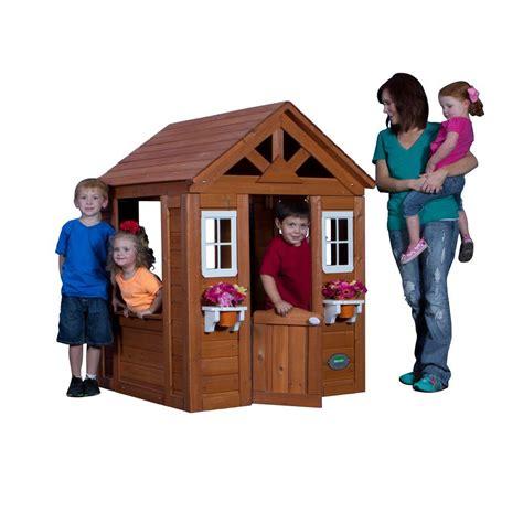 backyard discovery timberlake cedar wooden playhouse backyard discovery timberlake all cedar playhouse 65314com