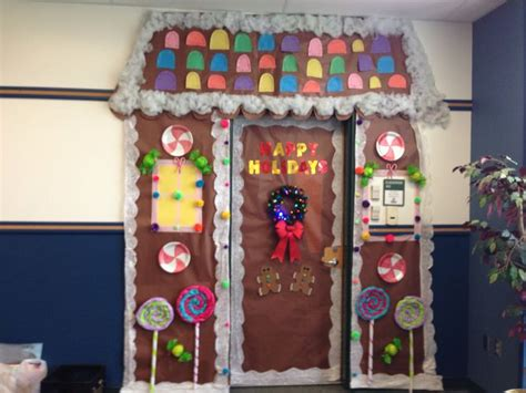 Christmas Classroom Door Gingerbread House