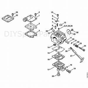 Stihl 026 Chainsaw  026pro  Parts Diagram  Carburetor Wt