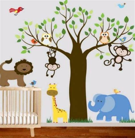 Babyzimmer Wandgestaltung Dschungel by Bunte Wandgestaltung Im Babyzimmer Dschungel Motive