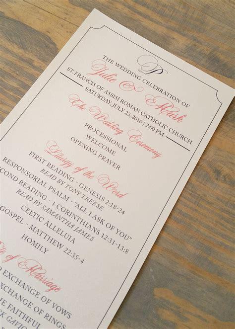 Wedding Program Etiquette - Raspberry Creative, LLC