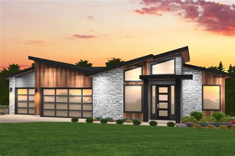 contemporary house plan bedrms baths sq ft