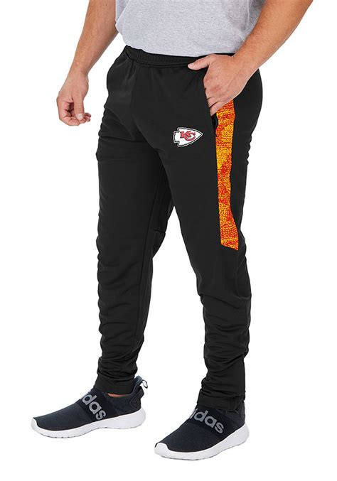 The pair developed a comfortably baggy pair of shorts with an elastic waistband. Zubaz Kansas City Chiefs Mens Black Track Pant Pants ...