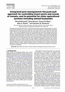 (PDF) Integrated pest management: The push-pull approach ...