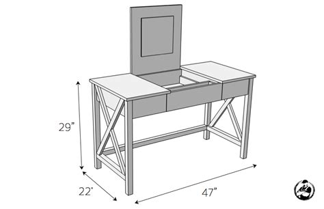 diy vanity table plans flip top vanity free diy plans rogue engineer
