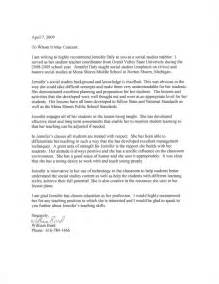 Example Teacher Recommendation Letter Sample for Student