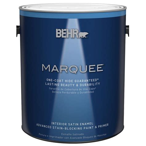 home depot paint interior behr marquee 1 gal base satin enamel interior paint