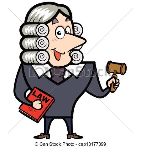 cartoon judge   gavel  law book cartoon judge