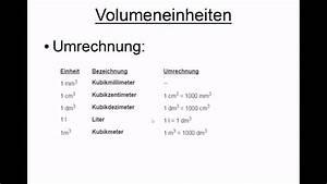 Rauminhalte Berechnen : volumeneinheiten umrechnen youtube ~ Themetempest.com Abrechnung