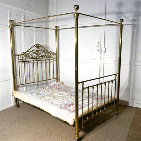 victorian art nouveau  poster double brass bed antiques