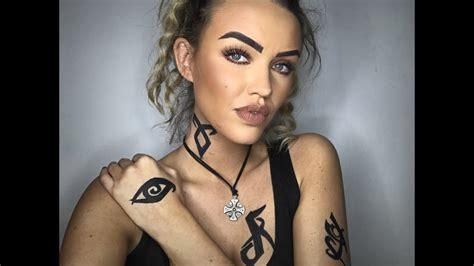 Shadowhunter Make Up And Tattoo Tutorial Youtube