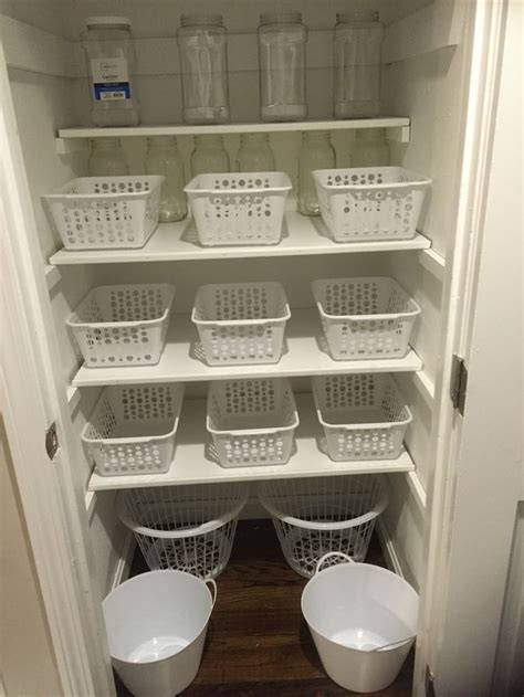 Dollar store pantry organization. I love these bins i got at the dollar store to organizw my