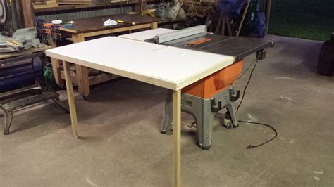 table  folding outfeed table  router table
