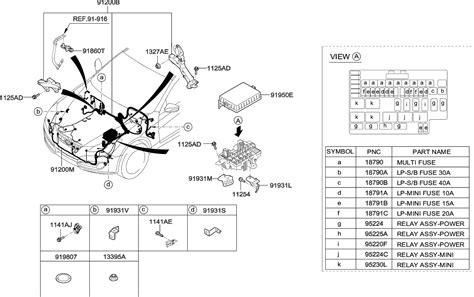 Genuine Hyundai Wiring Assembly Fem