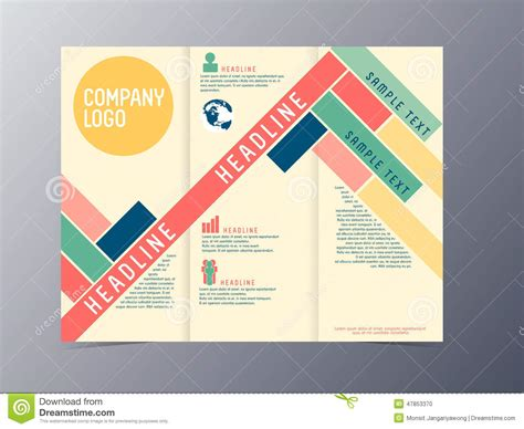 Colorful Brochure Templates by Colorful Modern Design Brochure Template Vector Stock
