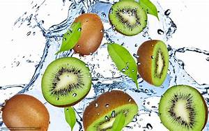 Download wallpaper kiwi, green, water, drops free desktop ...