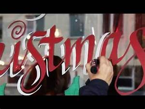 christmas window lettering and christmas painting youtube With window lettering paint