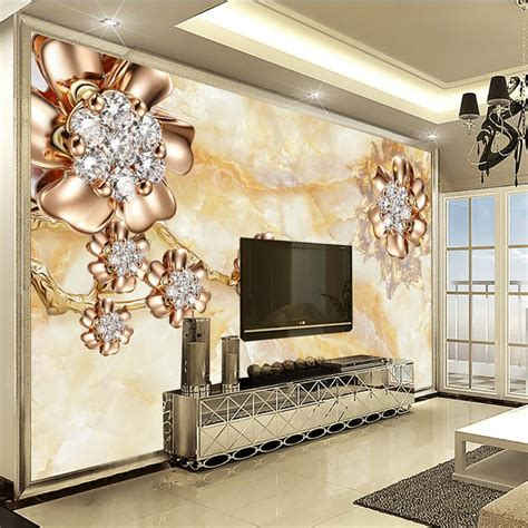 beibehang wall panel  wallpaper marble diamond jewelry
