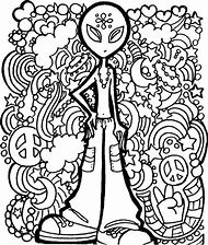 Alien Trippy Adult Coloring Pages Printable