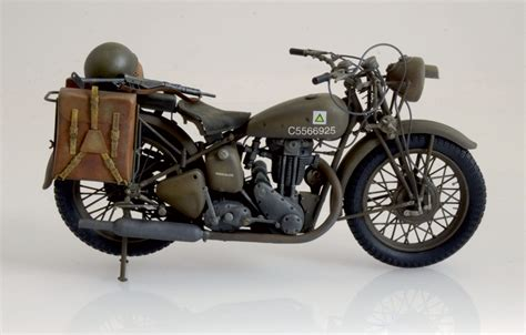 Triumph 3wh Wwii Motorcycle Italeri 7402
