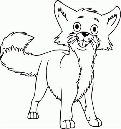 Fox Coloring Pages Printable Cartoon Confused Desert