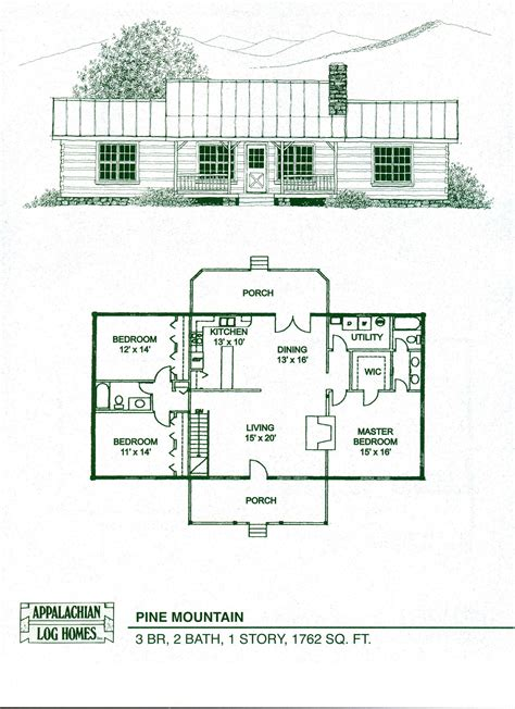 home floorplans log home floor plans cabin kits appalachian homes also 1