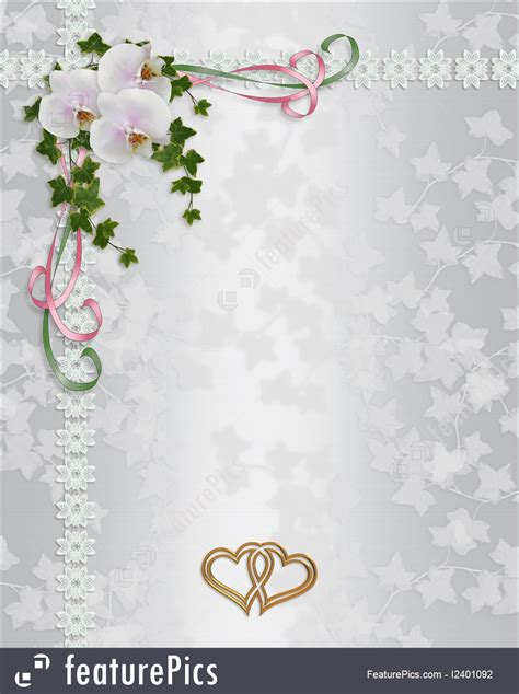 templates wedding invitation elegant orchids stock