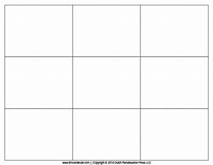 8 best images of blank playing card printable template for With flashcard template for word