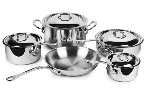 cookware stainless steel mauviel cook piece sets cutlery cart cutleryandmore