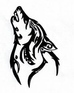Two Wolves Tribal Tattoo - ClipArt Best - ClipArt Best