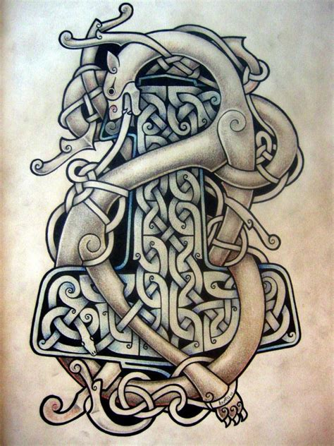 beast and hammer celtic tattoo by tattoo design on deviantart