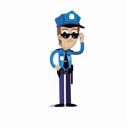 Cartoon Policeman Svg Profession Transparent Vector Vexels