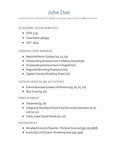 high school expanded resume for college application With college application example