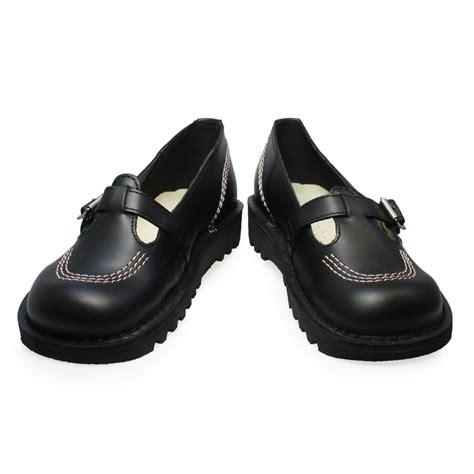 womens black wedges kickers kick lo t leather womens buckle