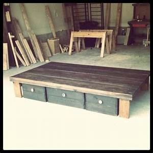 """homemade bed """"frame"""" DIYs and Upcycles Pinterest"""