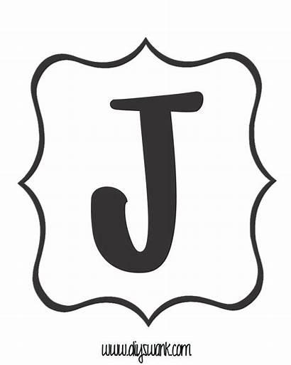 Banner Letter Printable Letters Template Alphabet Birthday