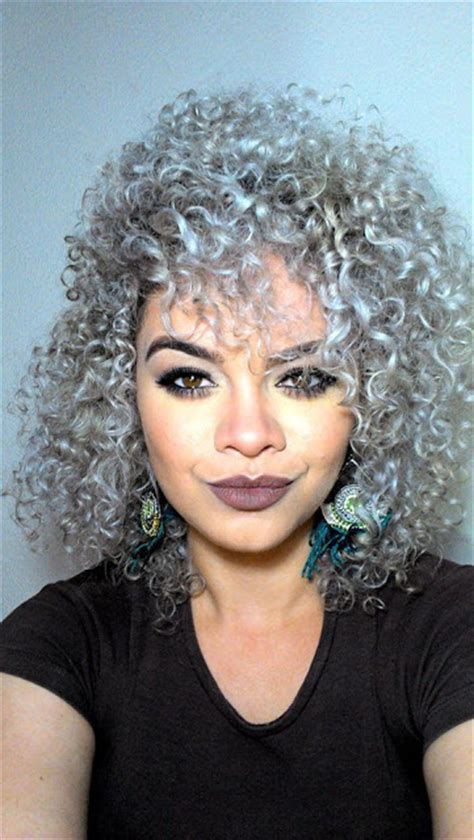 silver  curly trendy  powerful  haircut web