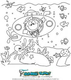 Underwater Submarine Coloring Page