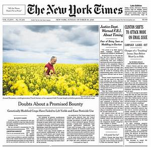 NY Times Floods Front Page With FBI Letter Stories While ...