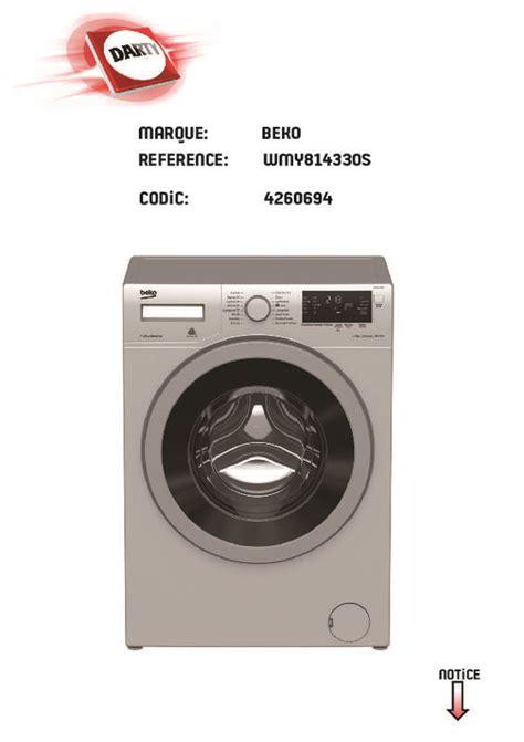 mode d emploi lave linge beko mode d emploi lave linge beko wmy814330s trouver une solution 224 un probl 232 me beko wmy814330s